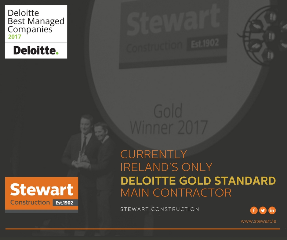 Stewart Construction awarded Deloitte Gold Best Managed Company