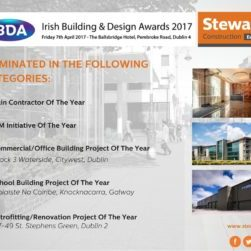 Stewart Construction are shortlisted in five categories in this year's Irish Building and Design Awards./